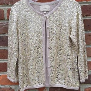 Anthropologie Sanctuary Sequined Cardigan